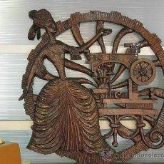 Antigüedades: PRECIOSA TALLA EN MADERA 120 CM.X 5 CM.. Lote 28758220