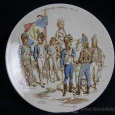 Antigüedades: PLATO DE LOZA DE SARREGUEMINES FRANCIA, 1ª REPUBLIQUE CONVENTION 1792-1795, PPIOS S XX 21,5 CM. Lote 28936210