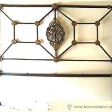 Antigüedades: CABEZAL DE CAMA DE HIERRO. Lote 28831591