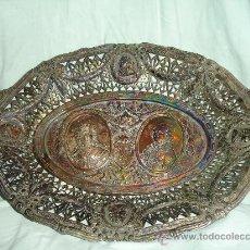 Antigüedades: BANDEJA TALLADO MUY ANTIGUA. Lote 28837118
