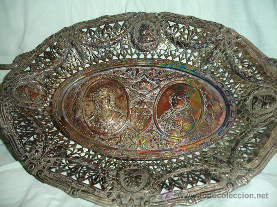 Antigüedades: BANDEJA TALLADO MUY ANTIGUA - Foto 3 - 28837118