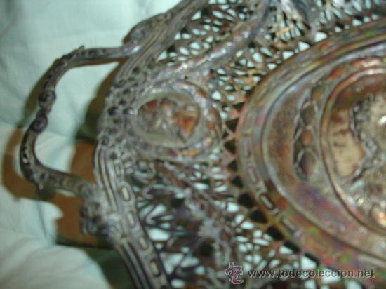 Antigüedades: BANDEJA TALLADO MUY ANTIGUA - Foto 4 - 28837118