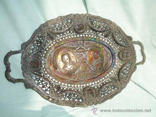 Antigüedades: BANDEJA TALLADO MUY ANTIGUA - Foto 6 - 28837118