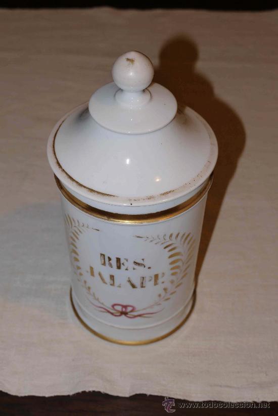 BOTE DE FARMACIA ALCORA? (Antigüedades - Porcelanas y Cerámicas - Alcora)