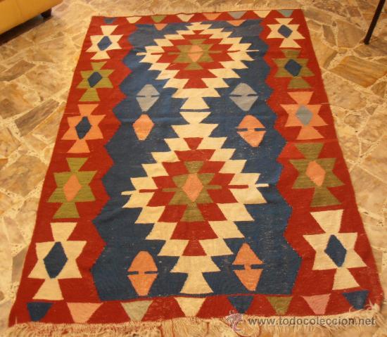 Alfombra kilim tejida con lana comprar alfombras for Alfombras turcas antiguas