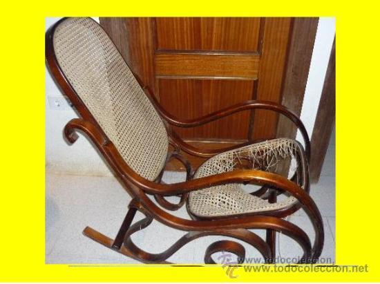 Bonita mecedora de madera para restaurar comprar sillas - Sillas antiguas de madera ...