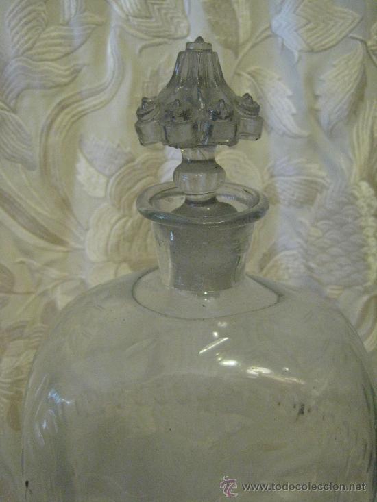 Antigüedades: Botella - garrafa de cristal de la Granja del siglo 18 - Foto 2 - 28867405