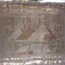 Antigüedades: ANTIGUA BANDEJA DECORADA Y GRAVADA CON MOTIVOS EGIPCIOS.. Lote 29958367