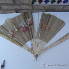 Antigüedades: ABANICO DE HUESO. Lote 28886105