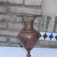 Antigüedades: JARRON DE METAL INDIO. Lote 28886653