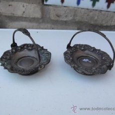 Antigüedades: PAREJA DE CESTOS DE CENTRO DE MESA ALPACAR . Lote 28886812