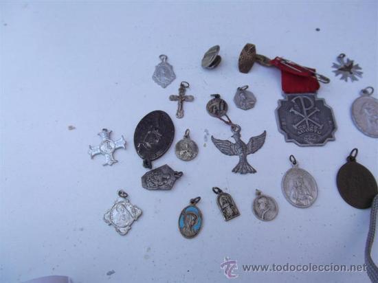 Antigüedades: 25 medallas religiosas - Foto 2 - 28886898