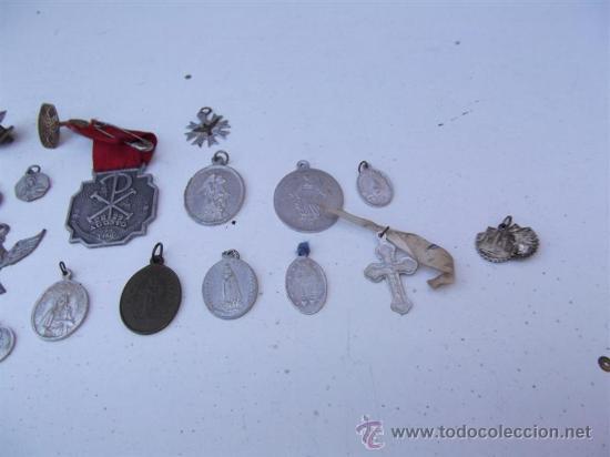Antigüedades: 25 medallas religiosas - Foto 3 - 28886898