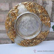 Antigüedades: PLATO DE ALUMINIO Y DORADO. Lote 28886949