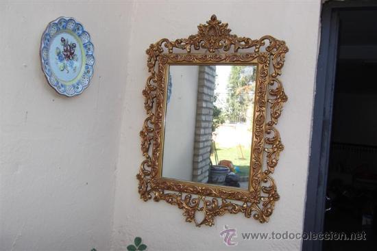 Antigüedades: espejo de madera dorada - Foto 2 - 28921233
