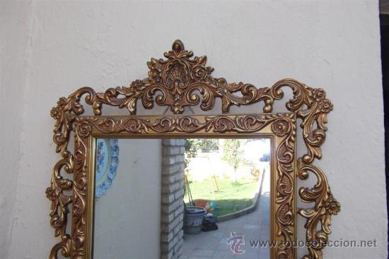 Antigüedades: espejo de madera dorada - Foto 3 - 28921233