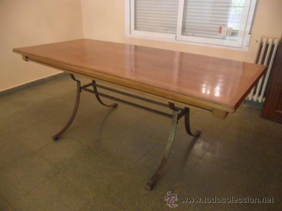 Mesa de comedor en madera de nogal con patas de comprar for Baneras antiguas con patas baratas
