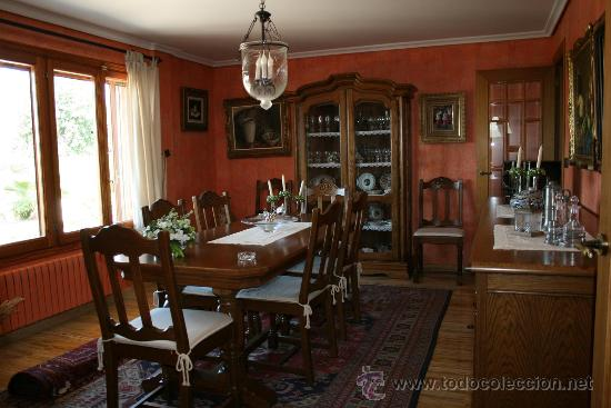 comedor rustico roble - Buy Antique Vitrines at todocoleccion - 28936177