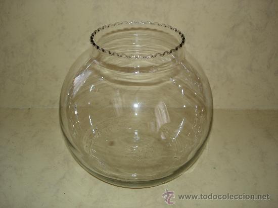 PECERA - DIAMETRO DE LA BOCA: 12 CM. (Antigüedades - Cristal y Vidrio - Otros)