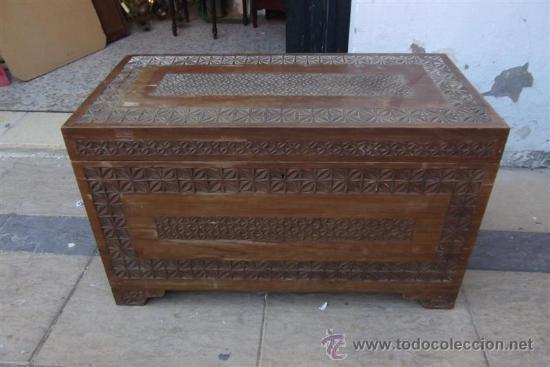 ARCON DE MADERA EXOTICA (Antigüedades - Muebles Antiguos - Baúles Antiguos)