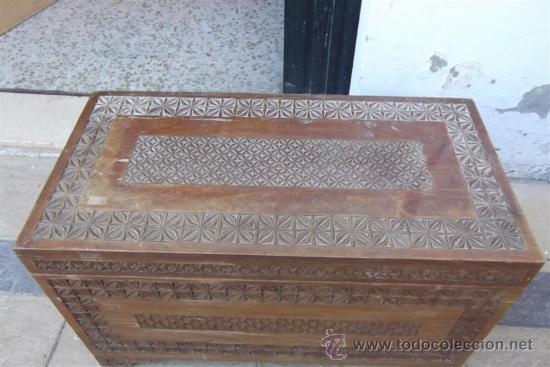 Antigüedades: arcon de madera exotica - Foto 2 - 28957599