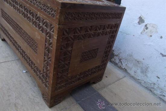 Antigüedades: arcon de madera exotica - Foto 4 - 28957599