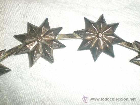 Antigüedades: corona para santo de plata - Foto 6 - 28971022