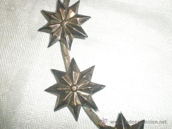 Antigüedades: corona para santo de plata - Foto 3 - 28971022