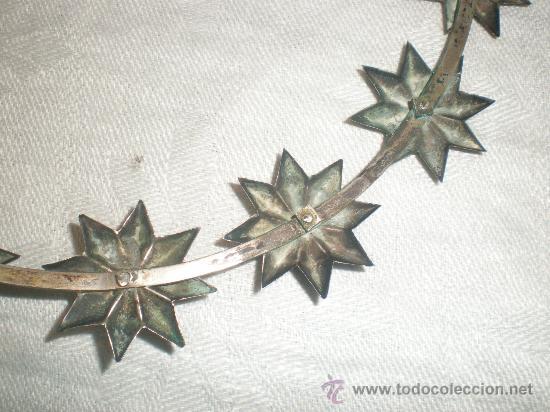 Antigüedades: corona para santo de plata - Foto 2 - 28971022