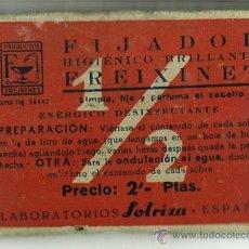 Antigüedades: SOBRE LLENO SIN ABRIR POLVOS FIJADOR FREIXINET. LABORATORIOS SOLRIZA. BARCELONA. PELUQUERIA. . Lote 28983445
