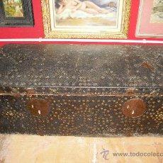 Antigüedades: BAUL DE PIEL. Lote 28986297