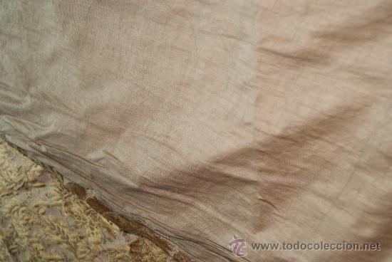 Antigüedades: CORTINAS BROCADAS ORIGINALES DEL MEDIADOS DEL XIX ORIGINAL BROCADO - Foto 5 - 29004539
