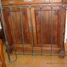 Antigüedades: CABECERO CAMA DE HIERRO. Lote 29047545