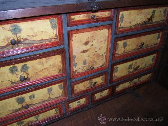 Antigüedades: BARGUEÑO NOGAL SIGLO XVIII - Foto 4 - 29038961