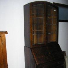Antigüedades: MUEBLE BURÓ Y VITRINA - SIGLO XIX - ESCRITORIO EN ROBLE .. Lote 30809760