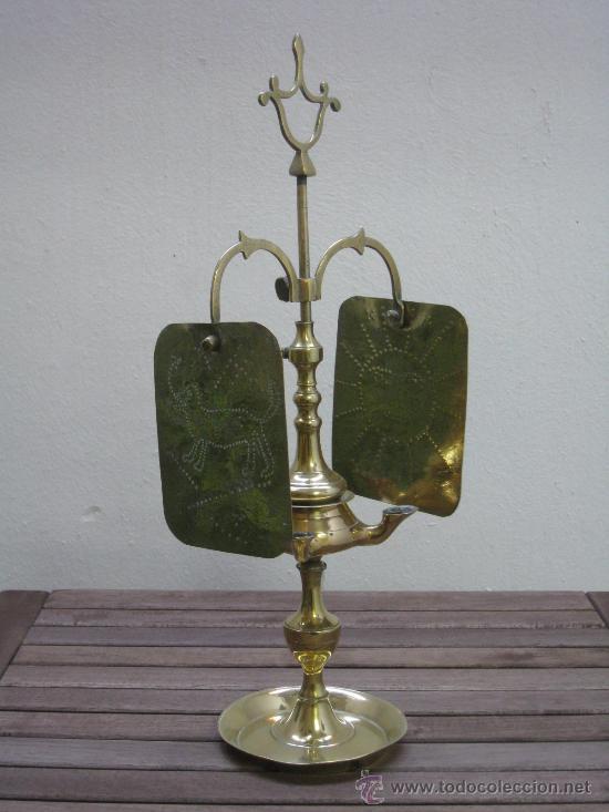 CANDIL, LUCERNARIA ANTIGUA. DE COLECCION (Antigüedades - Iluminación - Candelabros Antiguos)