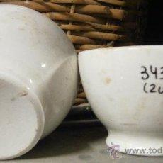 Antigüedades: 2 BOLS DE CERÁMICA BLANCA, SAN CLAUDIO.. Lote 29063732