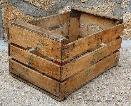 caja de madera fruta antigua serigrafiada jose herrera - Cajas De Madera Fruta