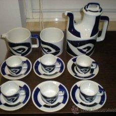 Antigüedades: JUEGO DE CAFE P DECORADO P DE SARGADELOS, 6 SERVICIOS. SIN ESTRENAR. .. Lote 131852879