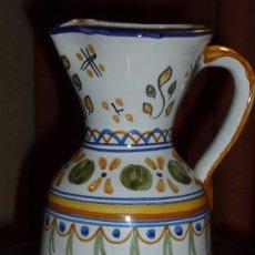 Antigüedades: TALAVERA,ANTIGUA JARRA DE CERAMICA DE TALAVERA PINTADA A MANO,BIEN CONSERVADA. Lote 29166290