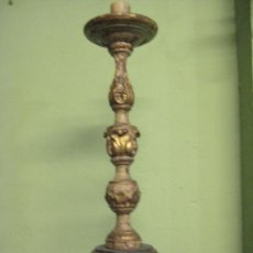 Antigüedades: GRAN CANDELABRO EN MADERA S. XVIII. Lote 29168675
