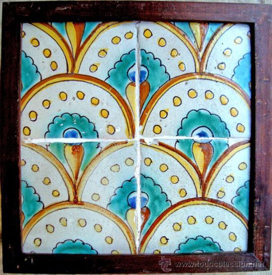 AZULEJOS CATALAN DEL SIGLO XVIII (Antigüedades - Porcelanas y Cerámicas - Catalana)