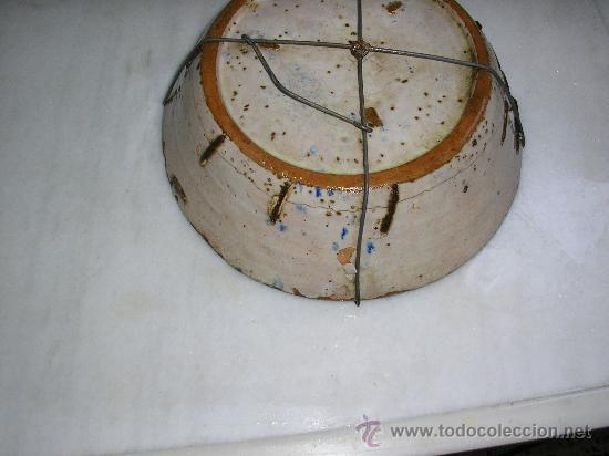 Antigüedades: PLATO ONDO **FAJALAUZA SERIE AZUL -SIGLO XVIII-** MARGARITA - Foto 2 - 29175775
