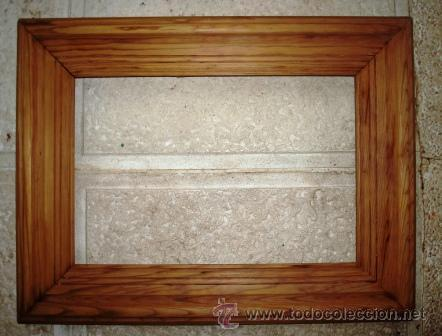 Marco de pala de madera antiguo comprar marcos antiguos de cuadros en todocoleccion 29176868 - Marcos de fotos madera ...