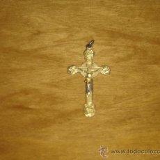 Antigüedades: CRUCIFIJO DE PRIMERA COMUNION AÑOS 20. METAL. EXCELENTE PIEZA DE COLECCION. Lote 29188125