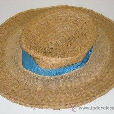 Antigüedades: SOMBRERO DE PAJA. RARO SOMBRERO DE PAJA DE ALA ANCHA.. Lote 29228841
