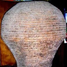 Antigüedades: CESTO GRANDE.PAJA DE CENTENO.FORMATO CÓNICO.ANTIGUO S/1800.PARA GARBANZOS.CASTILLA.VER DESCRIPCIÓN.. Lote 29238123