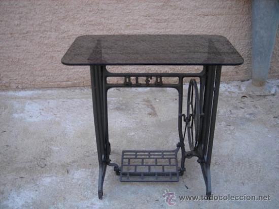 Mesa con pie de maquina de coser alfa y sobre d comprar - Como colocar marmol ...