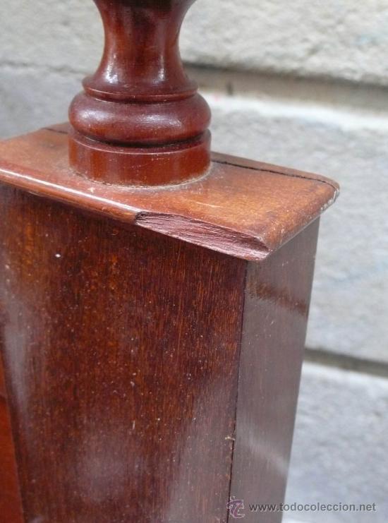 Antigüedades: Cama isabelina de caoba 153 cm de largo x 197 cm de alto. - Foto 5 - 29238099