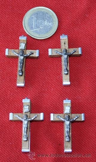 LOTE DE 4 CRUCES NUEVAS (Antigüedades - Religiosas - Cruces Antiguas)